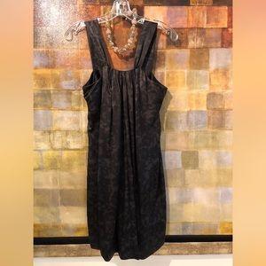 BANANA REPUBLIC BlackGray Silk Jumper Sheath Dress